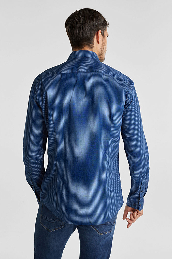 Shirt with a minimalist print, 100% organic cotton, BLUE, detail image number 3