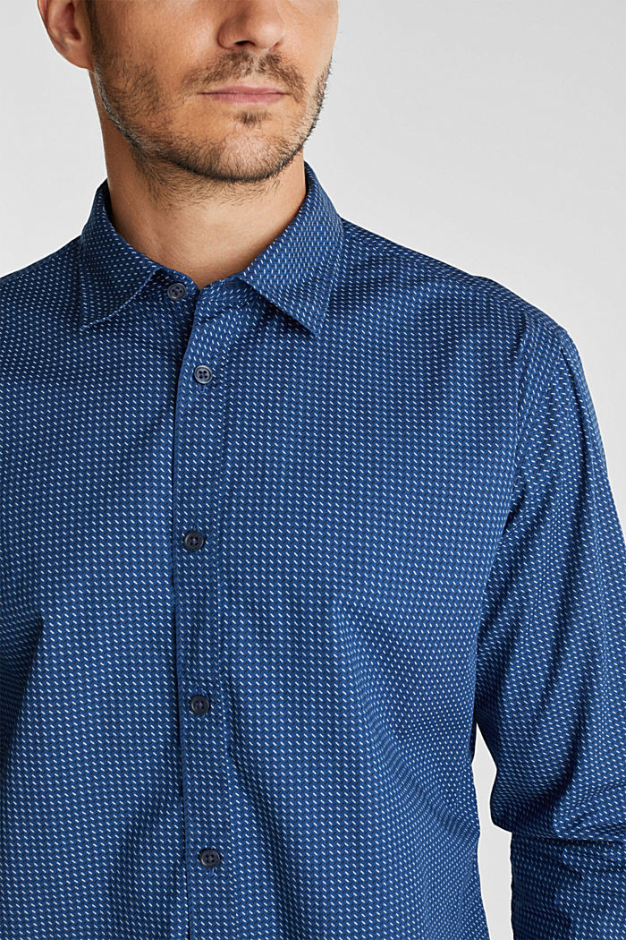 Shirt with a minimalist print, 100% organic cotton, BLUE, detail image number 2