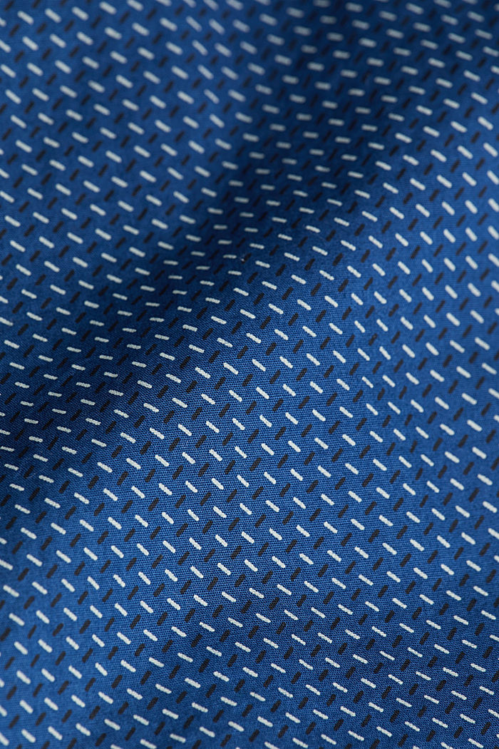 Shirt with a minimalist print, 100% organic cotton, BLUE, detail image number 4