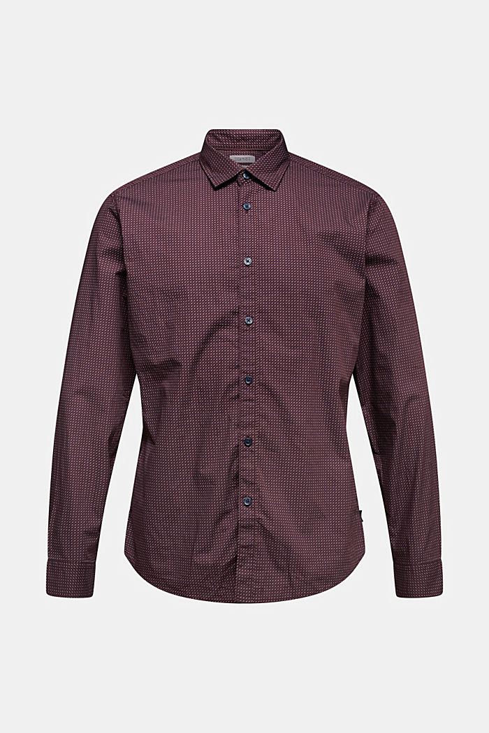 Shirt with a minimalist print, 100% organic cotton, BORDEAUX RED, detail image number 7