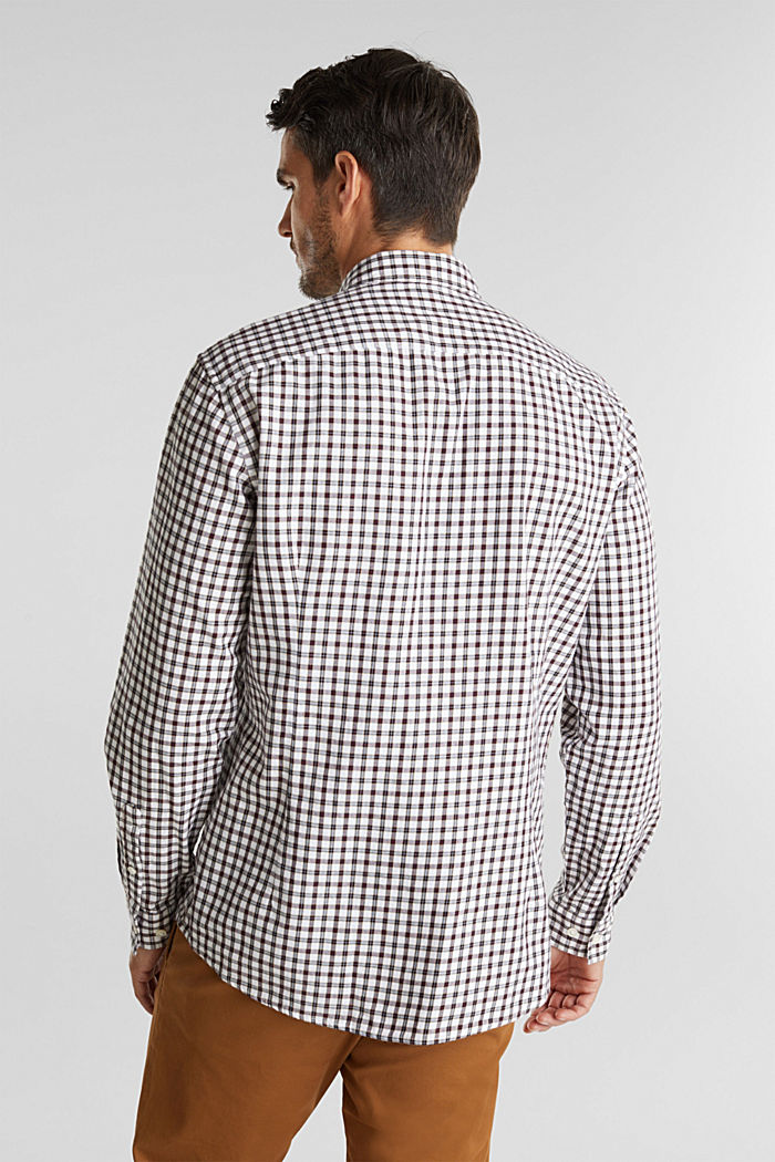 Checked shirt made of 100% organic cotton, WHITE, detail image number 3