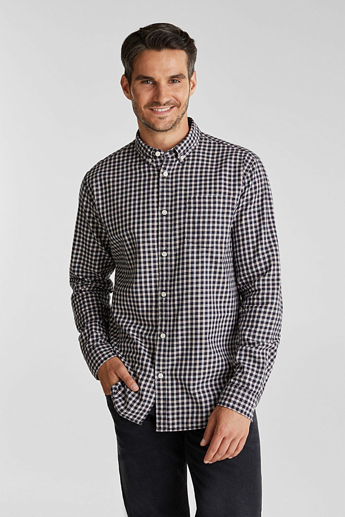 Checked shirt made of 100% organic cotton, NAVY, detail image number 0