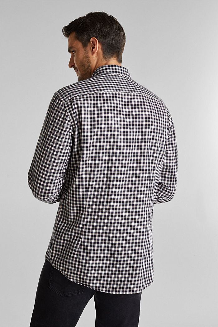 Checked shirt made of 100% organic cotton, NAVY, detail image number 3