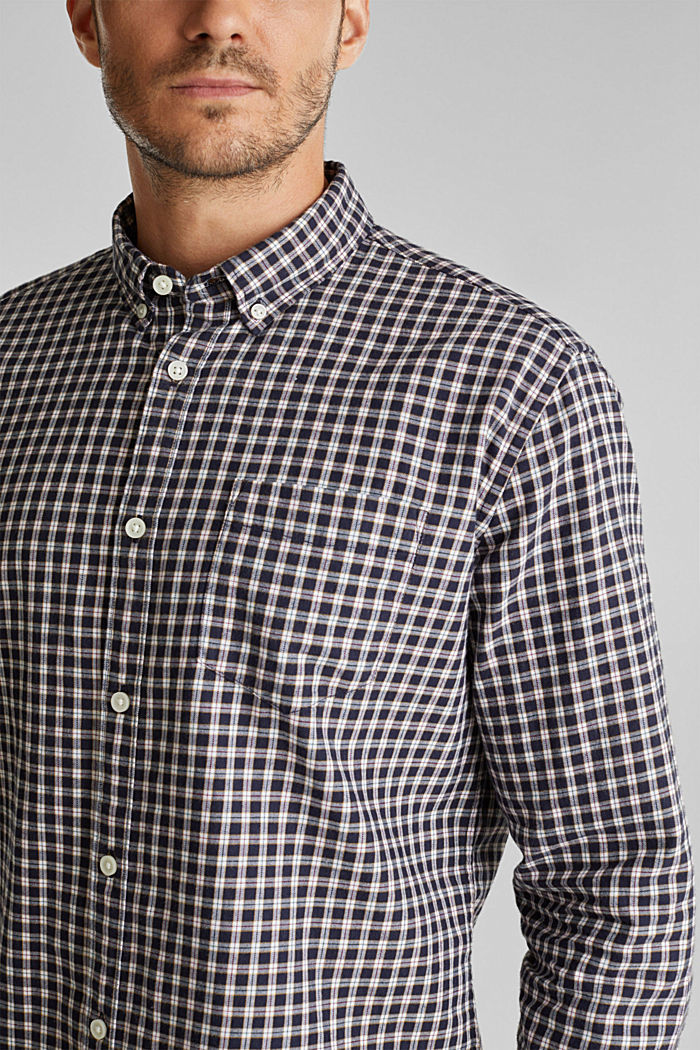 Checked shirt made of 100% organic cotton, NAVY, detail image number 2
