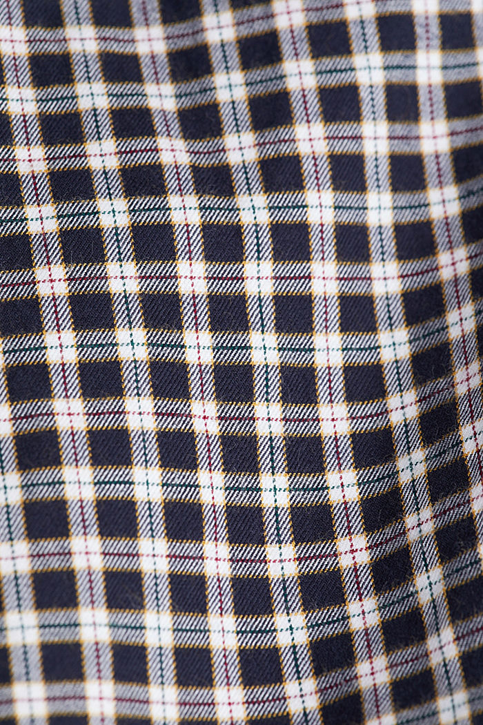 Checked shirt made of 100% organic cotton, NAVY, detail image number 4