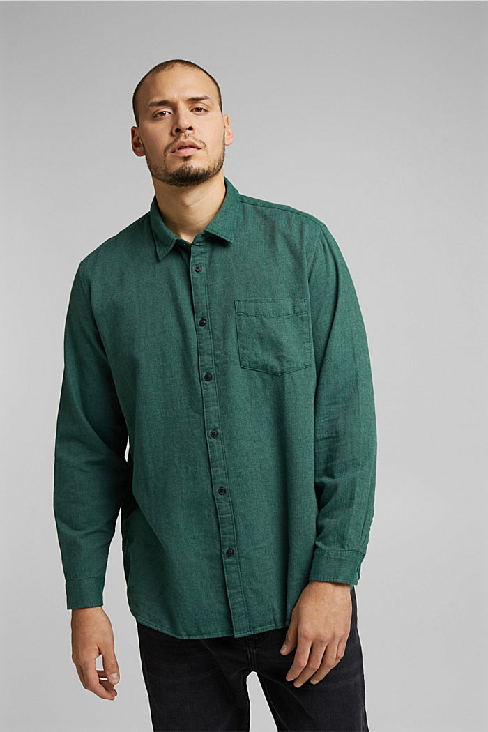Shirt made of 100% organic cotton, BOTTLE GREEN, detail image number 0