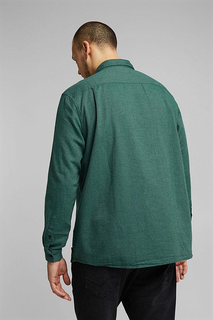 Shirt made of 100% organic cotton, BOTTLE GREEN, detail image number 2