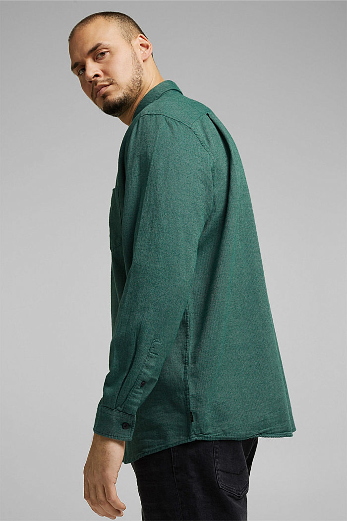 Shirt made of 100% organic cotton, BOTTLE GREEN, detail image number 4