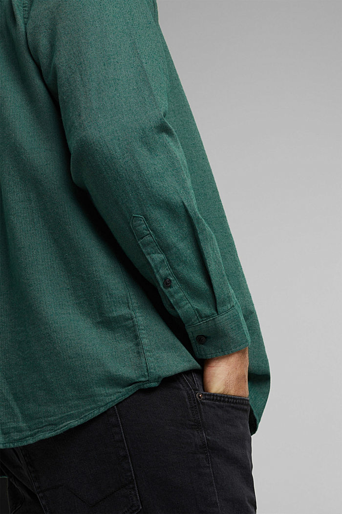 Shirt made of 100% organic cotton, BOTTLE GREEN, detail image number 1