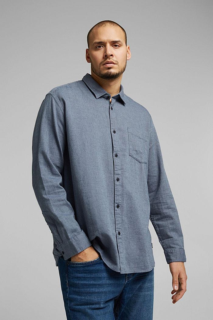 Hemd aus 100% Organic Cotton, NAVY, detail image number 0