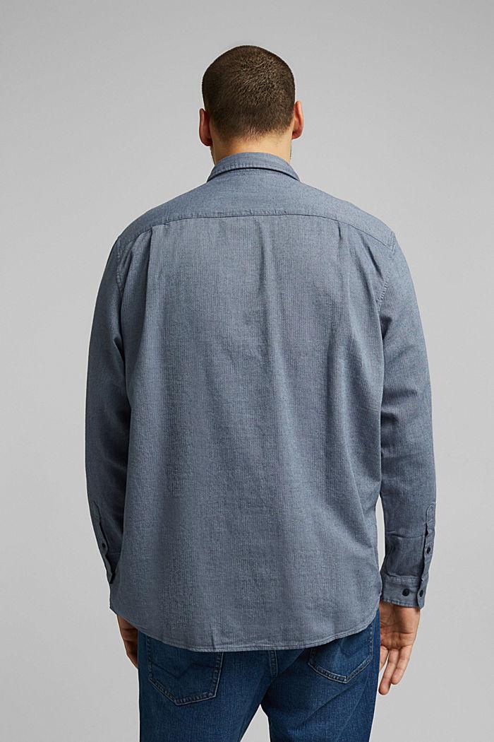 Hemd aus 100% Organic Cotton, NAVY, detail image number 3