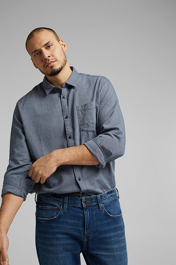 Shirt made of 100% organic cotton, NAVY, detail image number 5
