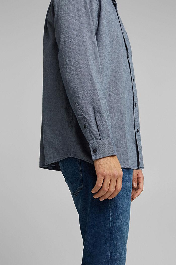 Hemd aus 100% Organic Cotton, NAVY, detail image number 2
