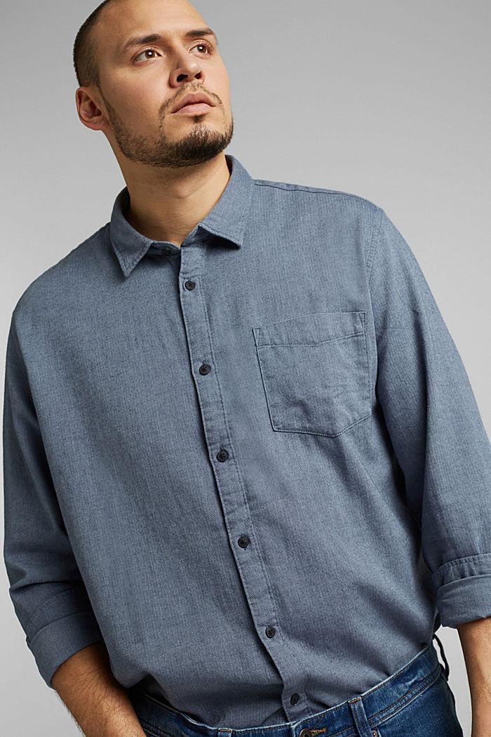 Hemd aus 100% Organic Cotton, NAVY, detail image number 6