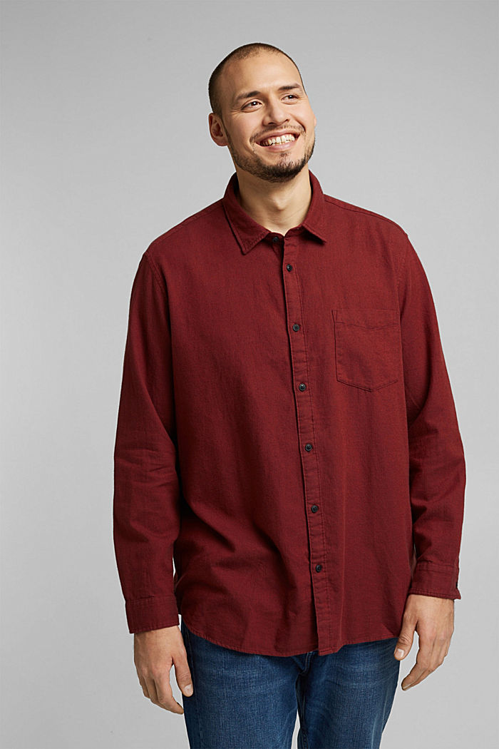 Hemd aus 100% Organic Cotton, BORDEAUX RED, detail image number 0