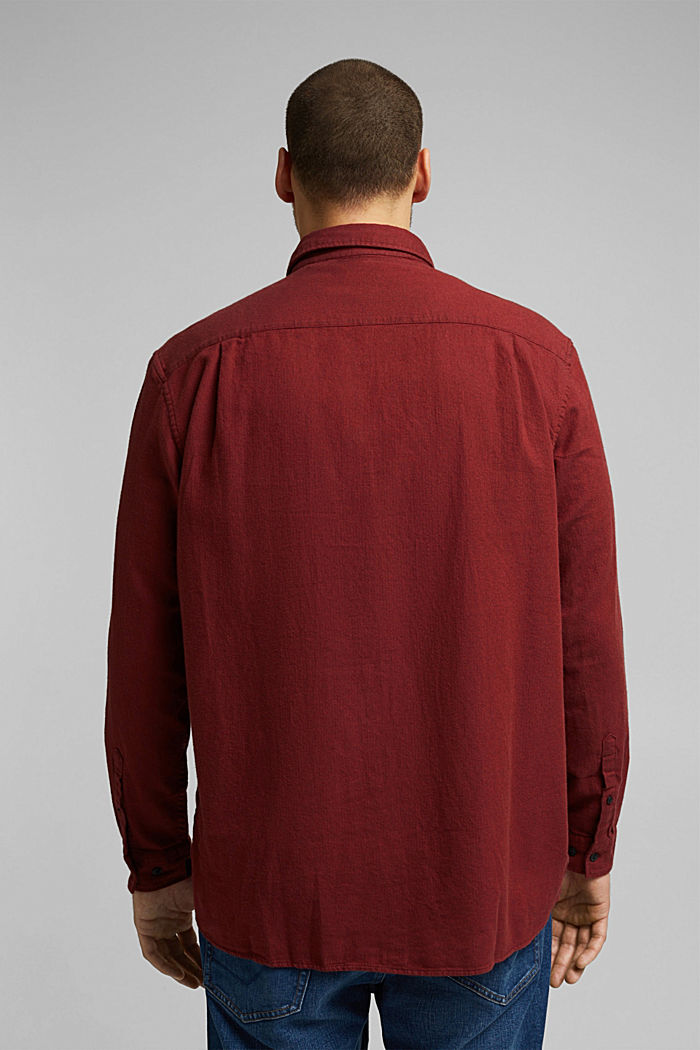 Hemd aus 100% Organic Cotton, BORDEAUX RED, detail image number 2