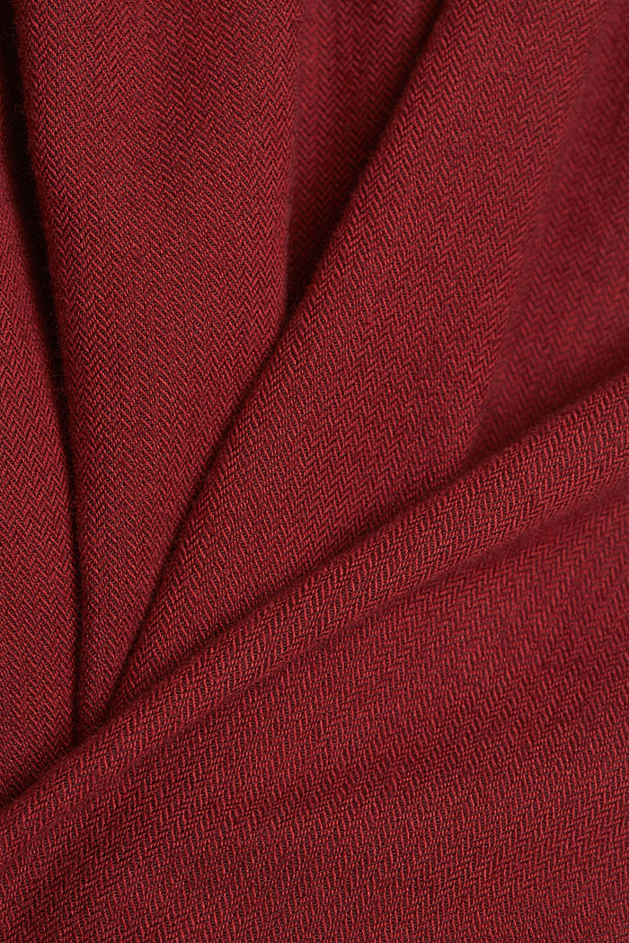 Hemd aus 100% Organic Cotton, BORDEAUX RED, detail image number 3
