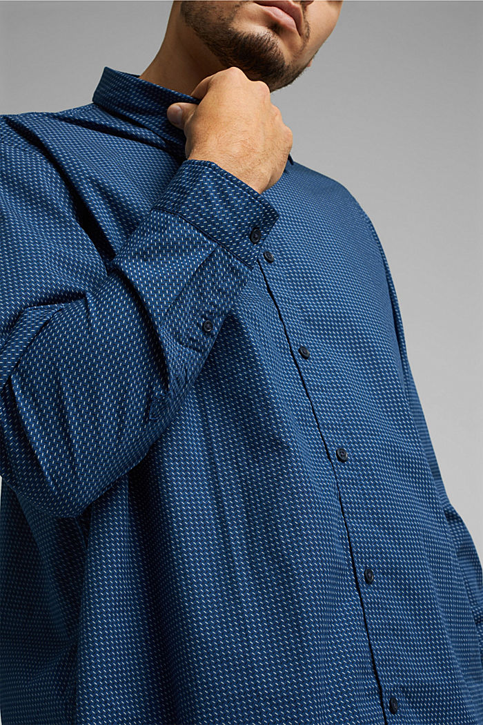Printed T-shirt in 100% organic cotton, BLUE, detail image number 1