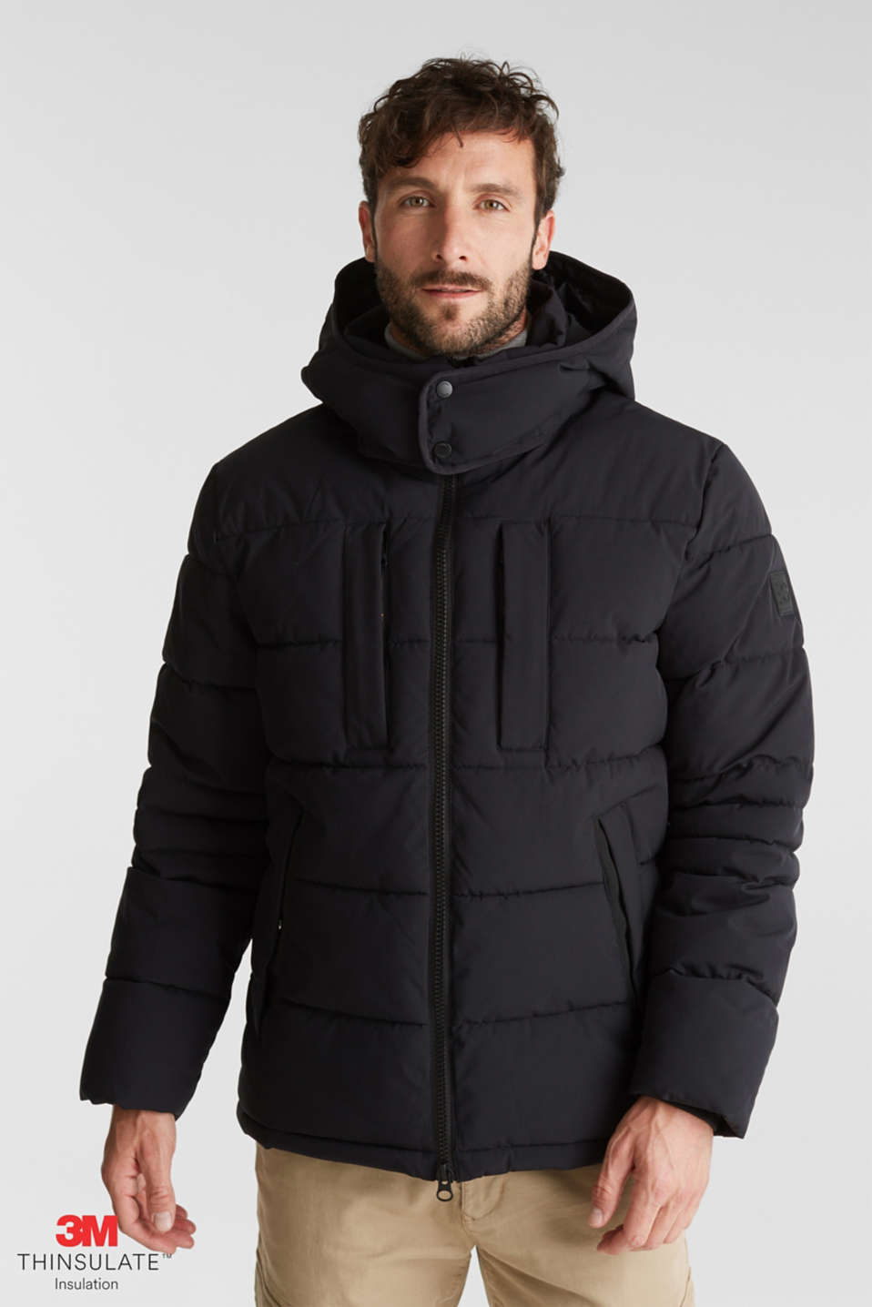 Esprit - Quilted jacket with 3M™ Thinsulate™ padding