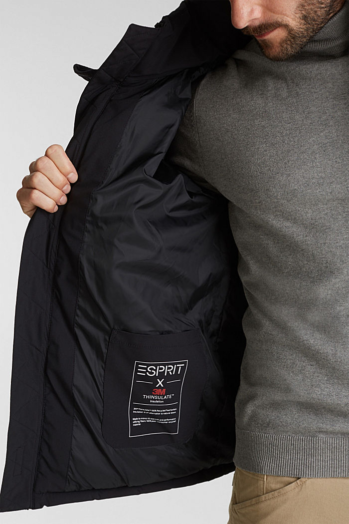 Quilted jacket with 3M™ Thinsulate™ padding, BLACK, detail image number 6