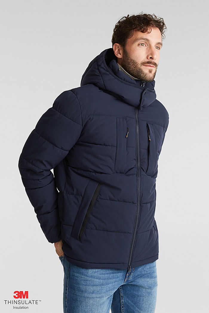 Quilted jacket with 3M™ Thinsulate™ padding, DARK BLUE, detail image number 0