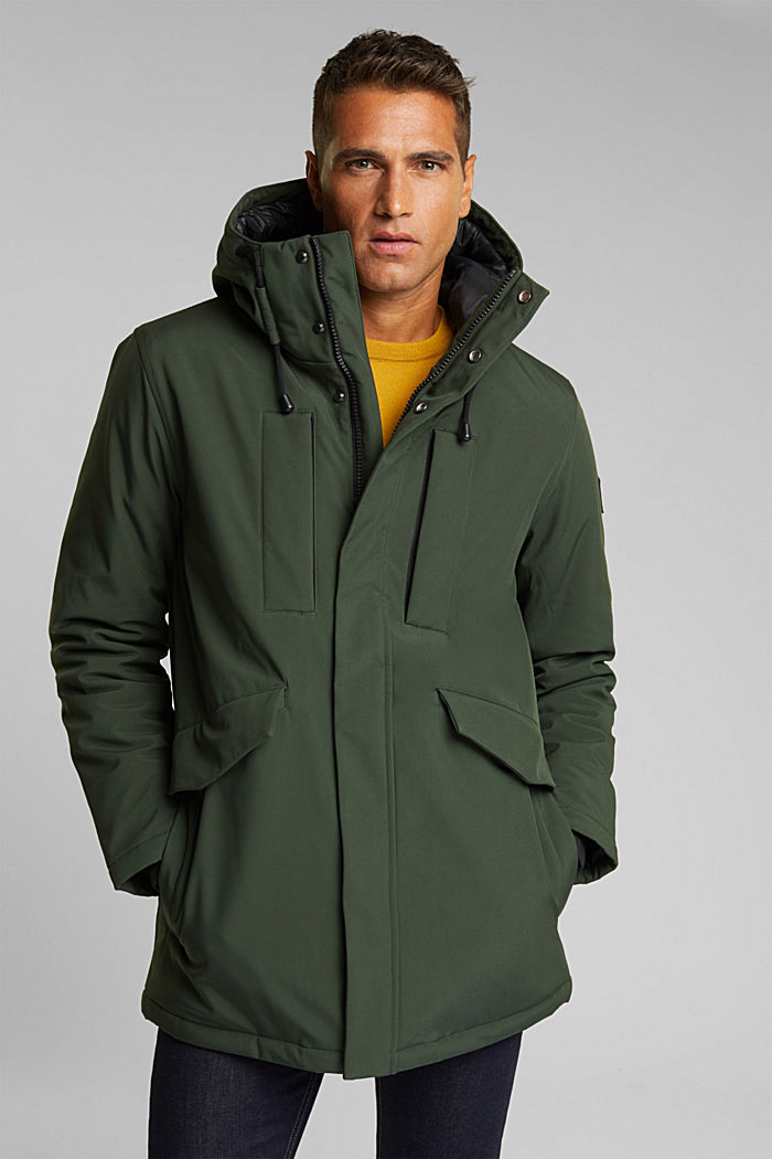 Recycled: jacket with 3M™ Thinsulate™, BOTTLE GREEN, detail image number 0