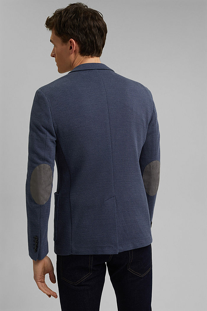 Patterned knit sports jacket, GREY BLUE, detail image number 3