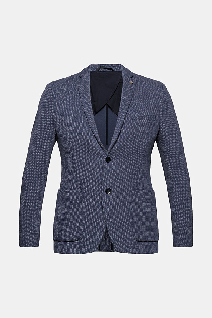 Patterned knit sports jacket, GREY BLUE, detail image number 6