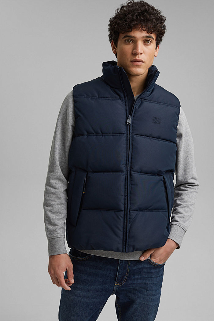 Recycled: quilted body warmer 3M™Thinsulate™, DARK BLUE, detail image number 0