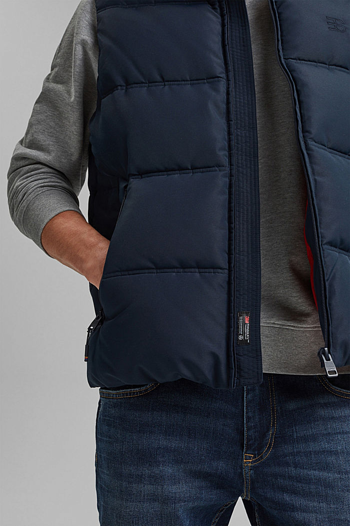 Recycled: quilted body warmer 3M™Thinsulate™, DARK BLUE, detail image number 6