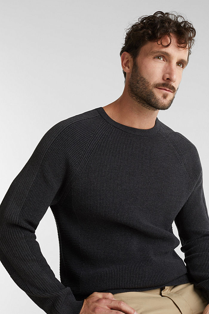 Jumper made of 100% organic cotton, ANTHRACITE, detail image number 5