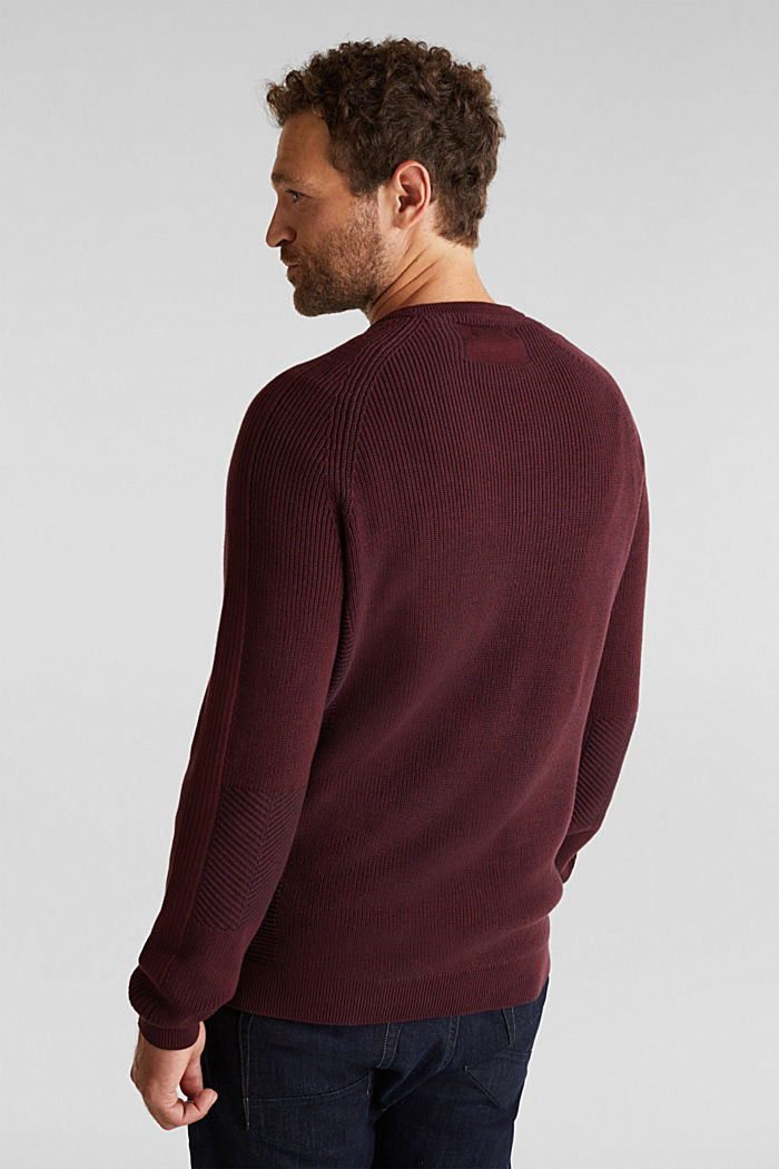 Jumper made of 100% organic cotton, DARK RED, detail image number 3