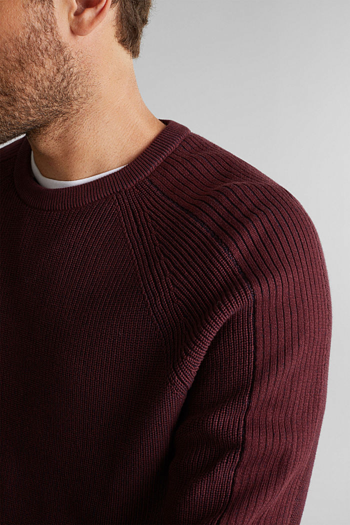 Jumper made of 100% organic cotton, DARK RED, detail image number 2