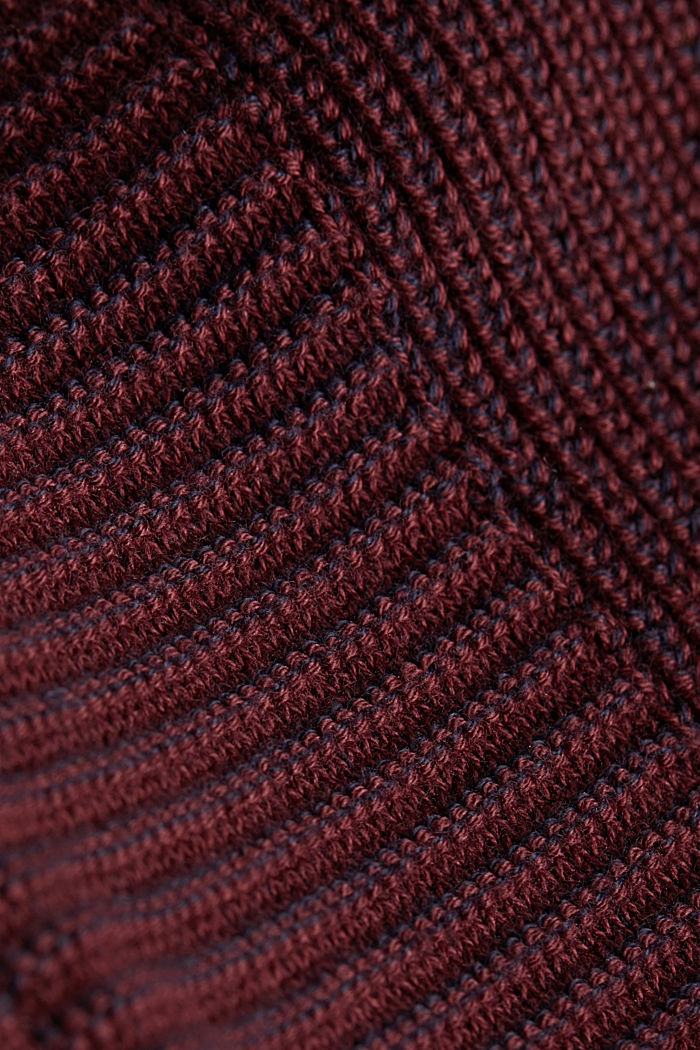 Jumper made of 100% organic cotton, DARK RED, detail image number 4