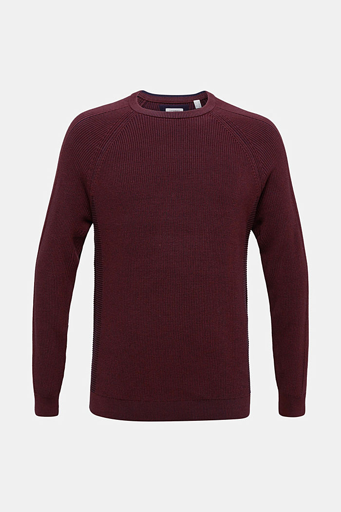 Jumper made of 100% organic cotton, DARK RED, overview
