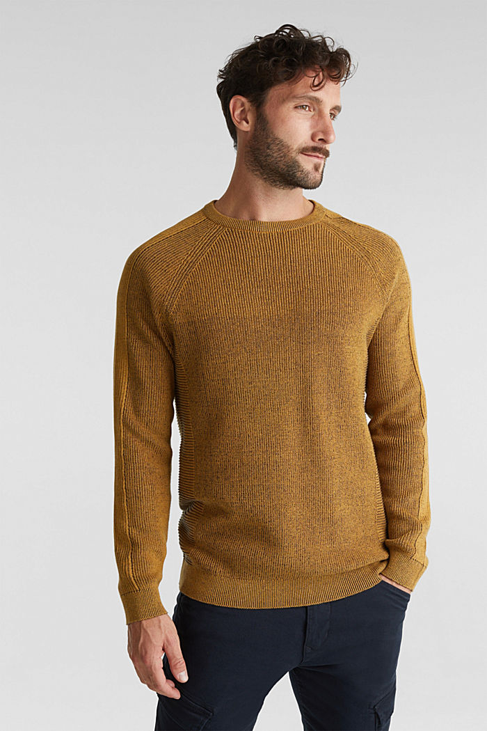 Jumper made of 100% organic cotton, AMBER YELLOW, detail image number 0