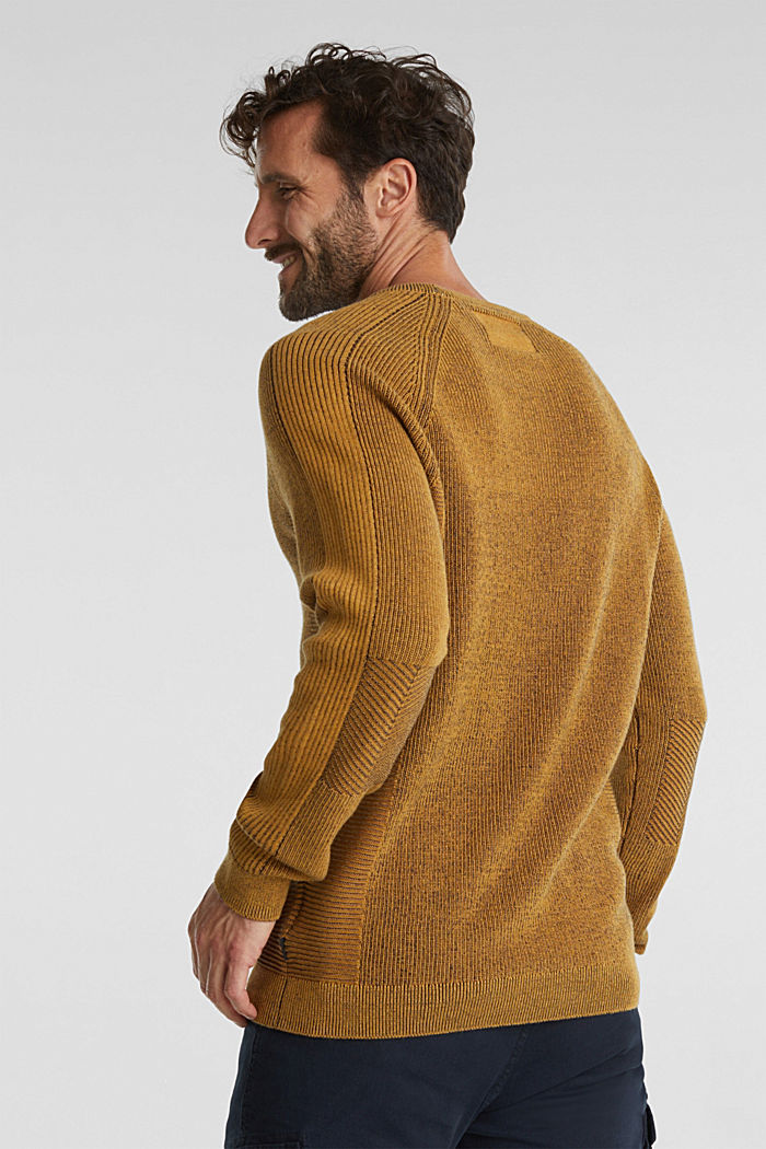 Jumper made of 100% organic cotton, AMBER YELLOW, detail image number 3