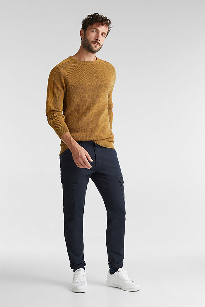 Jumper made of 100% organic cotton, AMBER YELLOW, detail image number 1