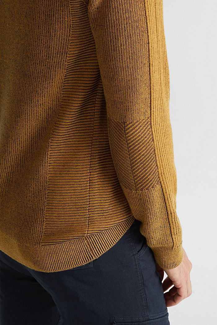 Jumper made of 100% organic cotton, AMBER YELLOW, detail image number 2