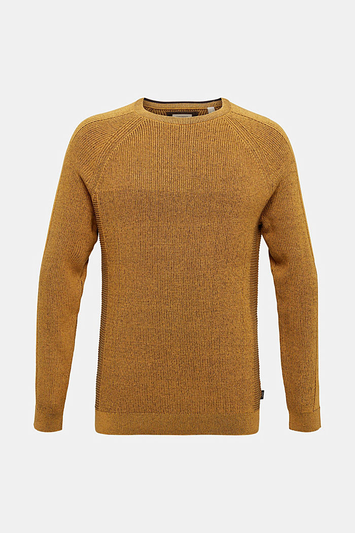 Jumper made of 100% organic cotton, AMBER YELLOW, detail image number 5
