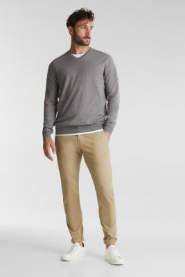 With cashmere: jumper made of organic cotton, MEDIUM GREY 5, detail