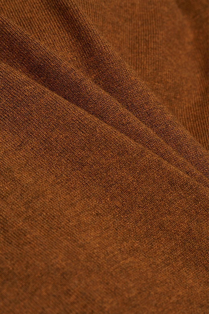 With cashmere: jumper made of organic cotton, BARK, detail image number 4