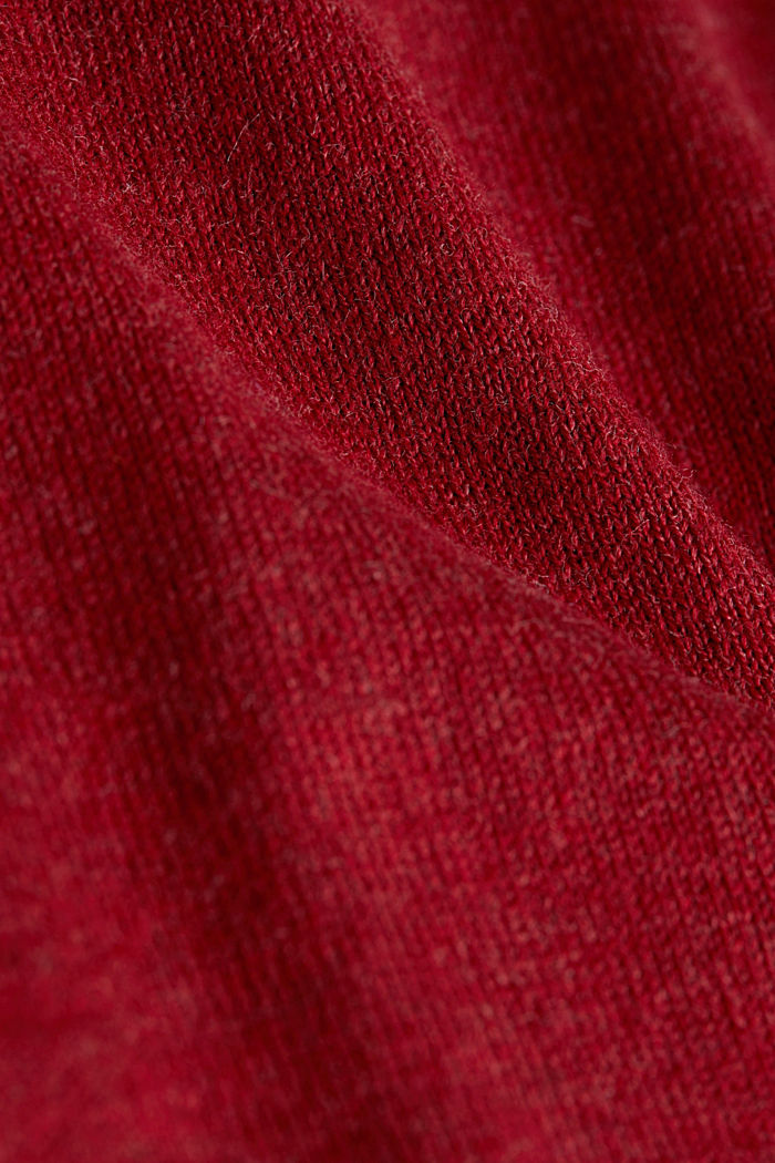 With cashmere: jumper made of organic cotton, GARNET RED, detail image number 4