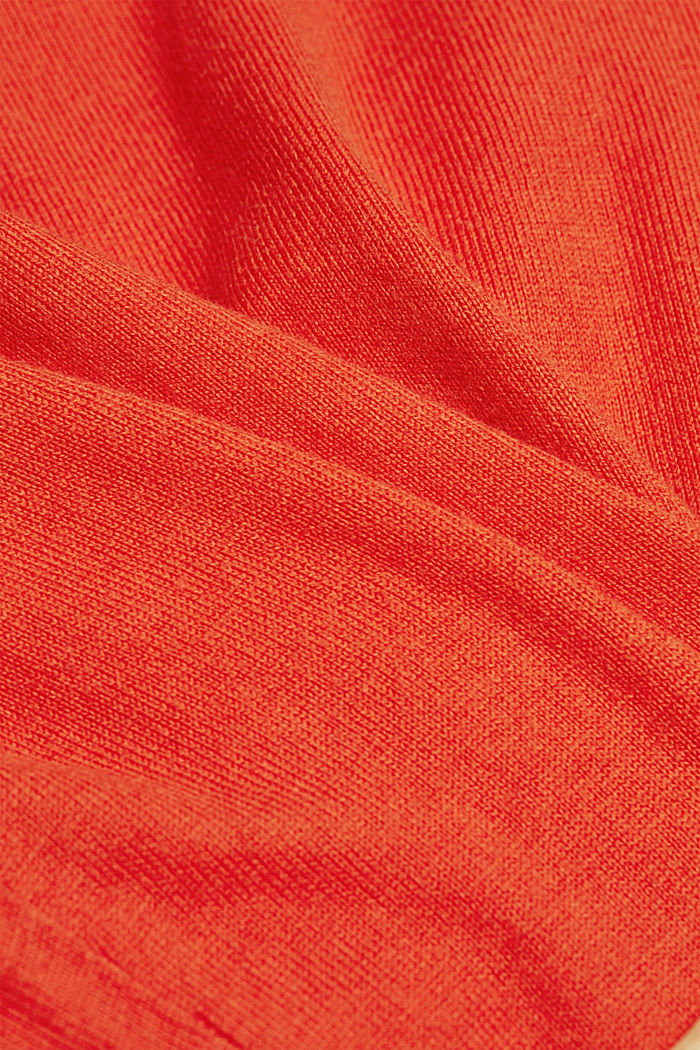 With cashmere: jumper made of organic cotton, BURNT ORANGE, detail image number 4