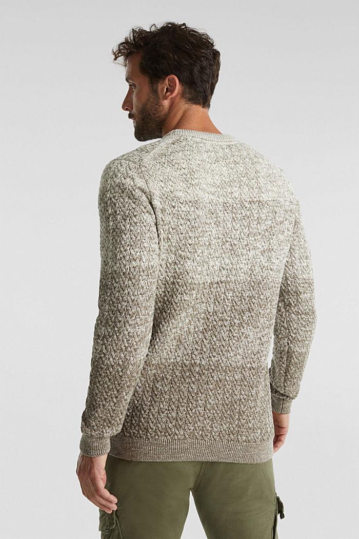 Textured jumper made of 100% organic cotton, CREAM BEIGE, detail image number 3