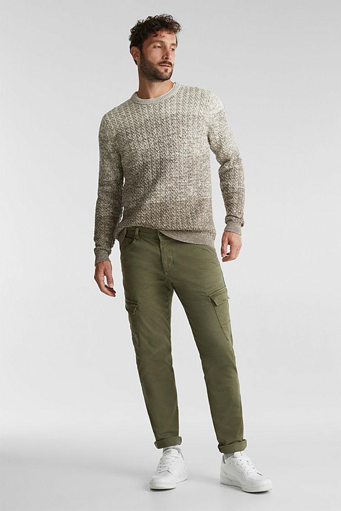 Struktur-Pullover aus 100% Organic Cotton, CREAM BEIGE, detail image number 1