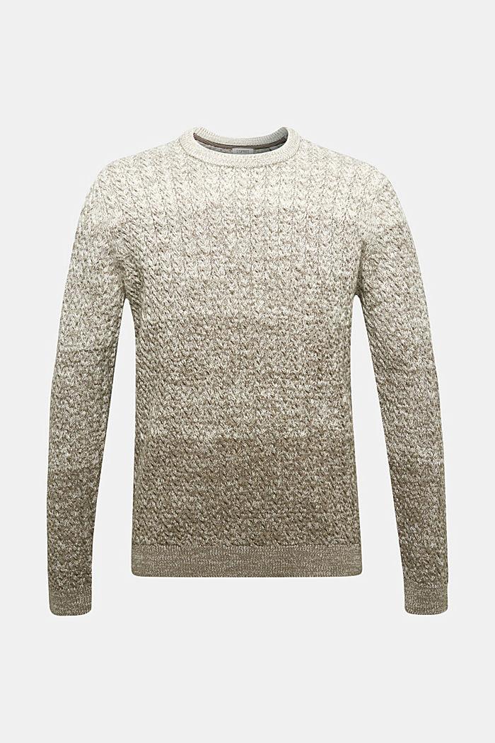 Struktur-Pullover aus 100% Organic Cotton, CREAM BEIGE, detail image number 6