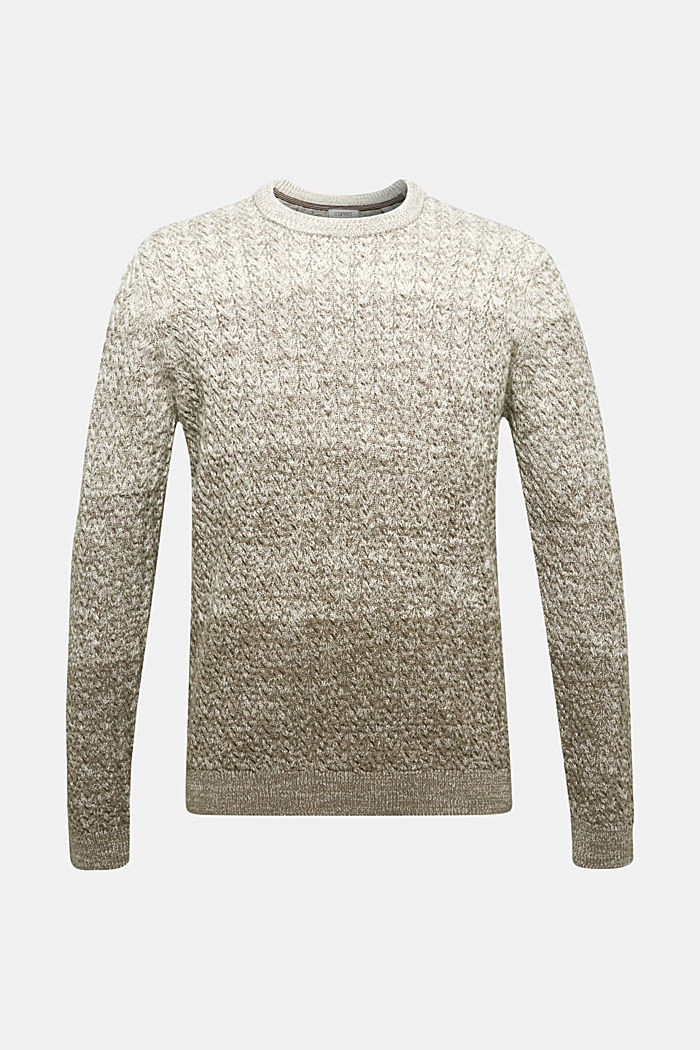 Textured jumper made of 100% organic cotton, CREAM BEIGE, detail image number 6