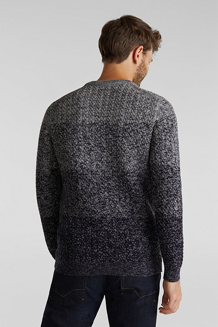 Textured jumper made of 100% organic cotton, NAVY, detail image number 3