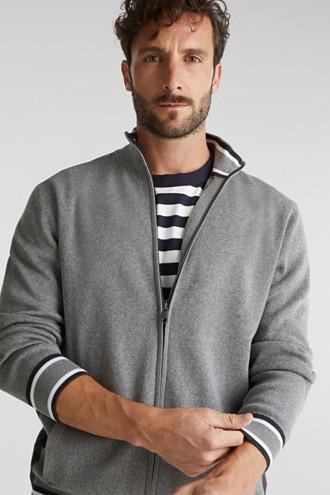 Zip-up cardigan made of 100% organic cotton